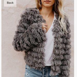 Fashion Nova Shaggy Faux Fur Jacket.  Size S.